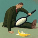 Banana under magnifying glass (Curious Disgorge)